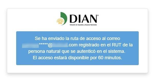 Notificación Email Dian