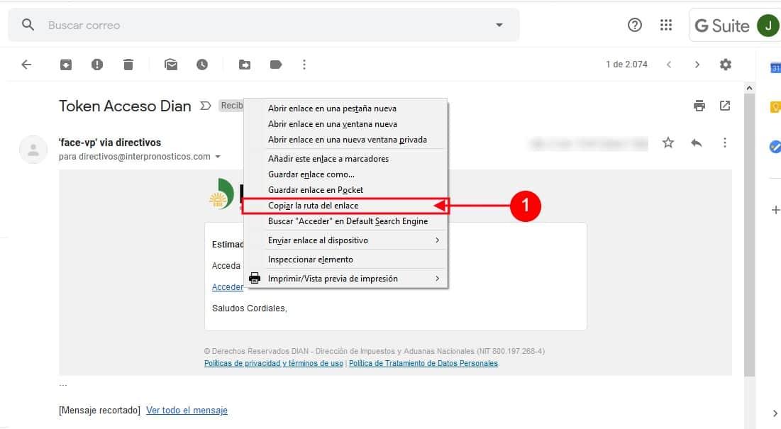 Clic Derecho Copiar Dirección Enlace Firefox