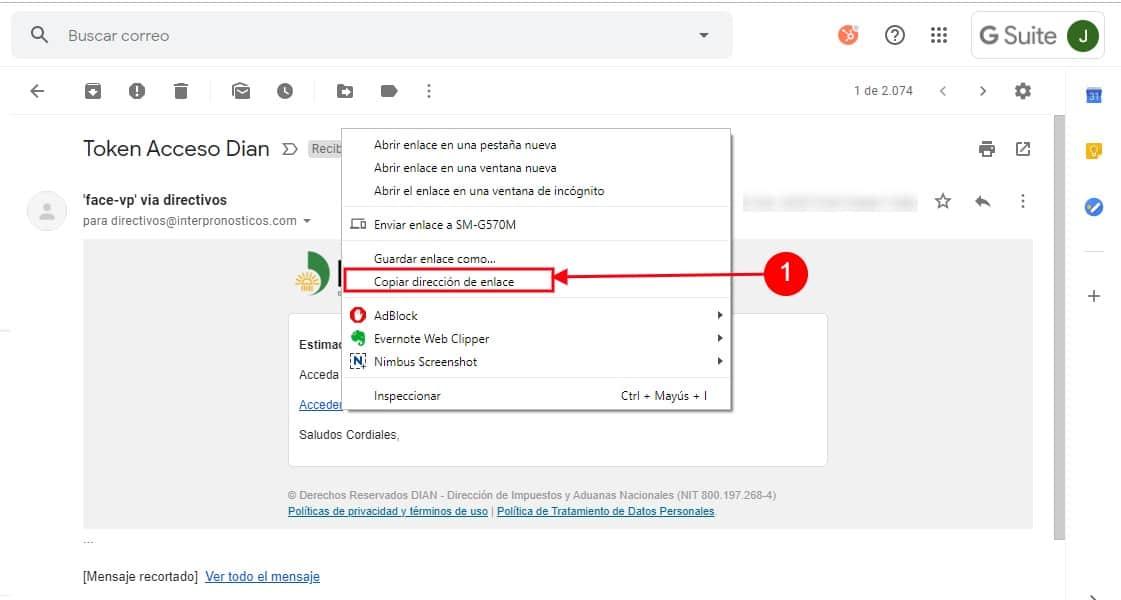 Clic Derecho Copiar Dirección Enlace Chrome