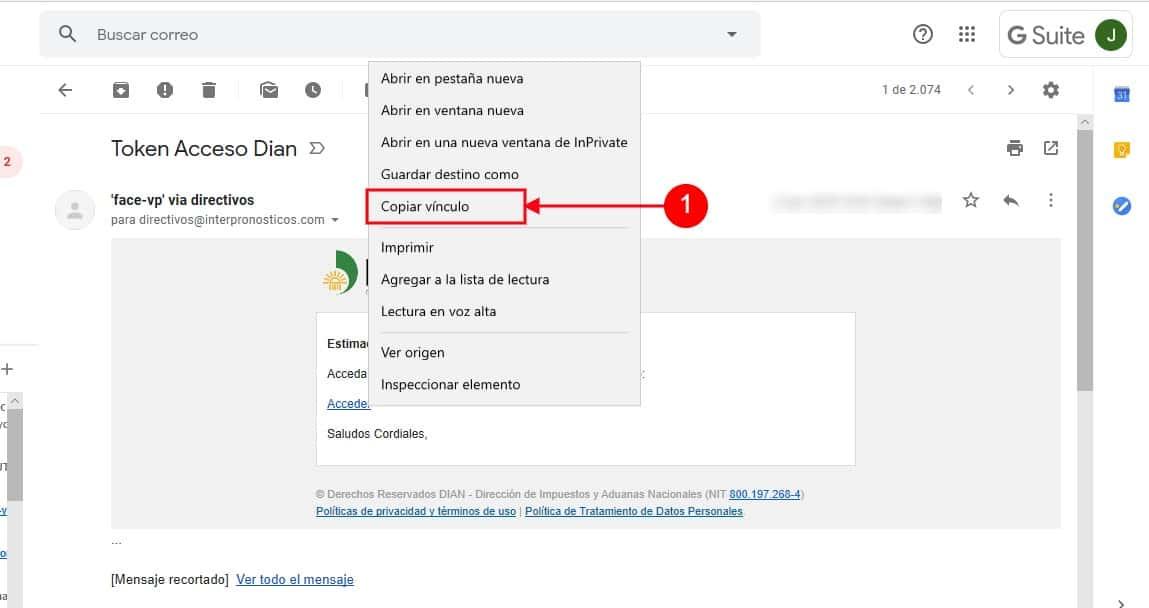 Clic Derecho Copiar Dirección Enlace Internet Explorer