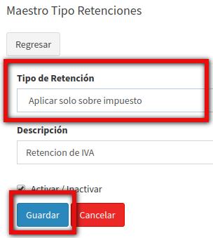 Configurar retefuente al IVA
