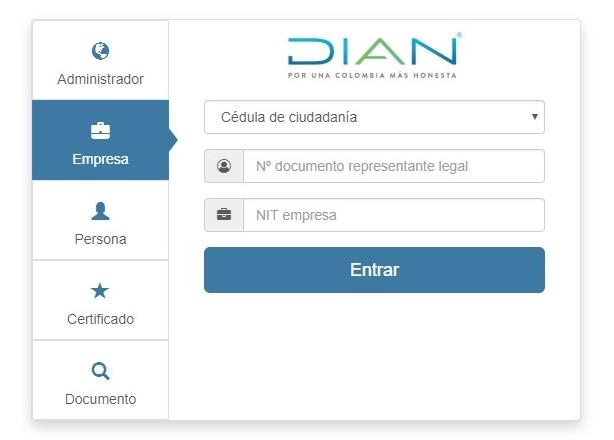 Login Portal Habilitación Empresas