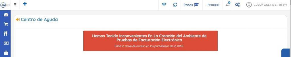 Notificación Error Factura Electrónica
