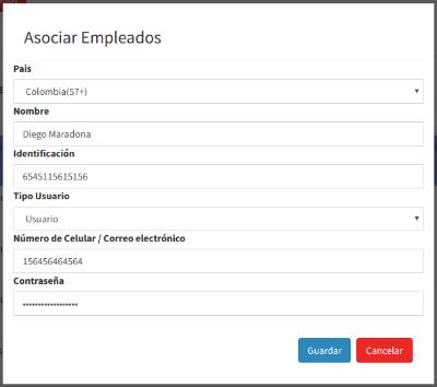 Formulario registro de usuarios y empleado