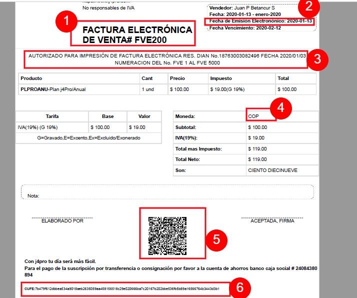 Representación Gráfica Factura Electrónica