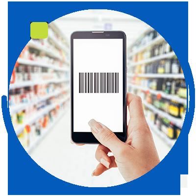 Base de datos de programa para supermercado con lector de códigos de barra